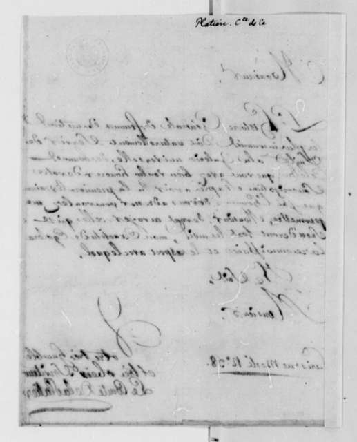 Count de la Platiere to Thomas Jefferson, May 1788, in French