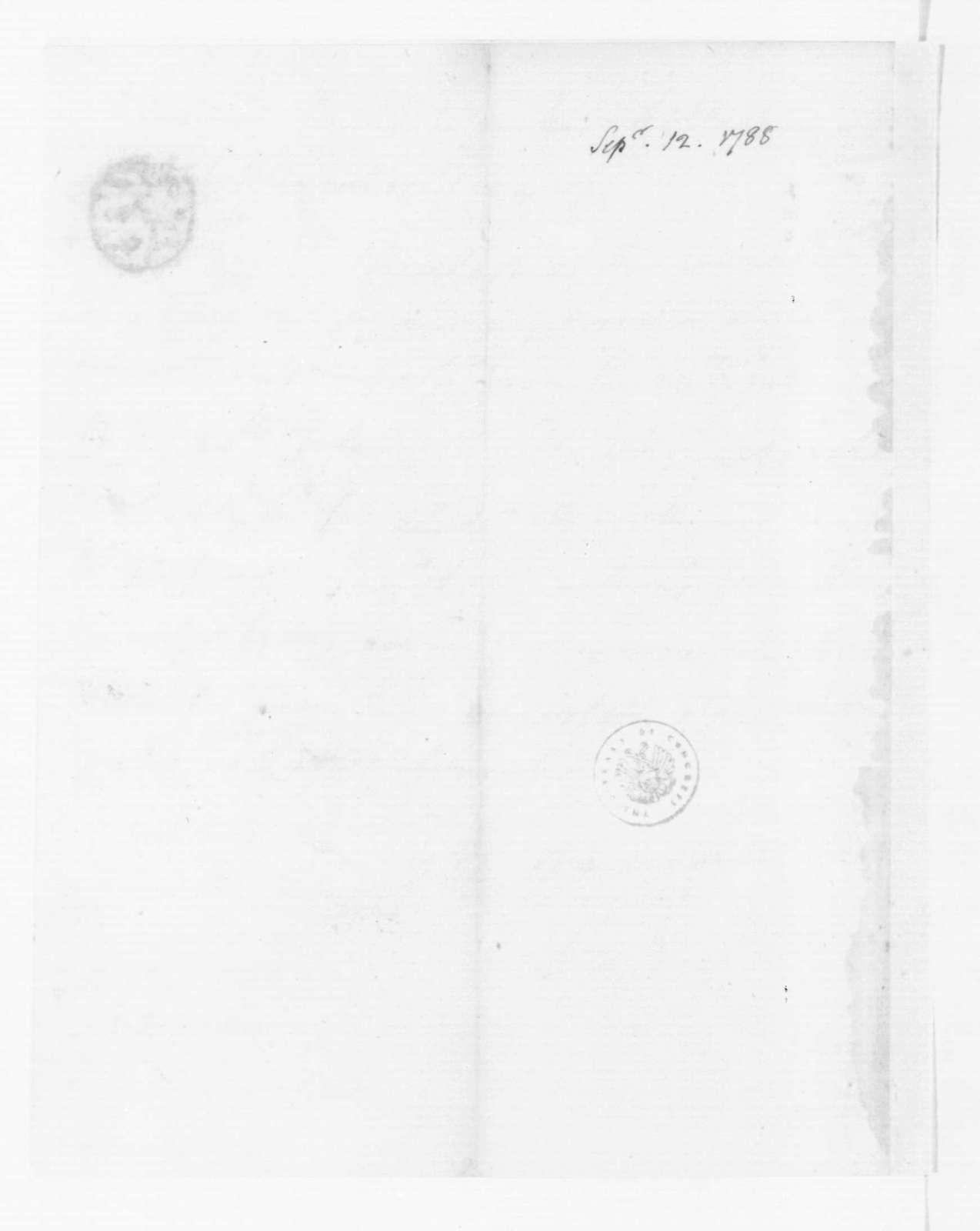 Edmund Randolph to James Madison, September 12, 1788.