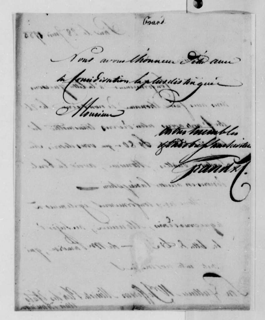Ferdinand Grand & Company to Thomas Jefferson, June 28, 1788, in French