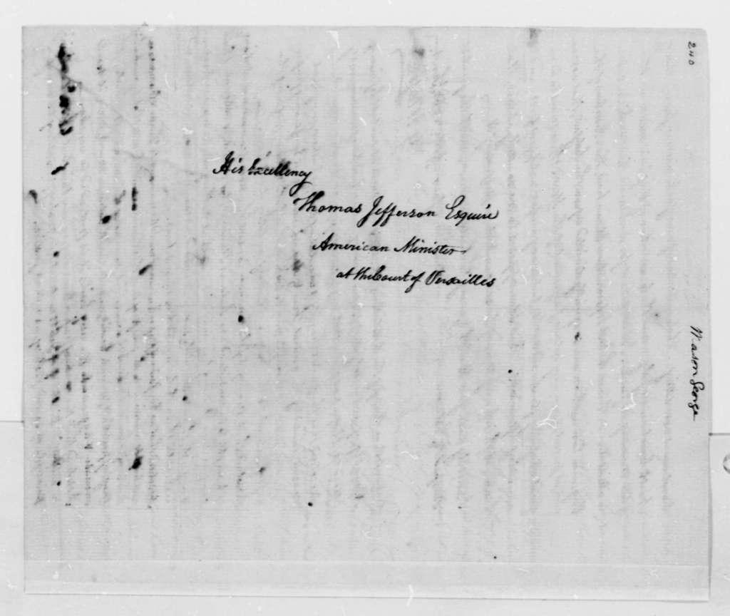 George Mason to Thomas Jefferson, May 26, 1788