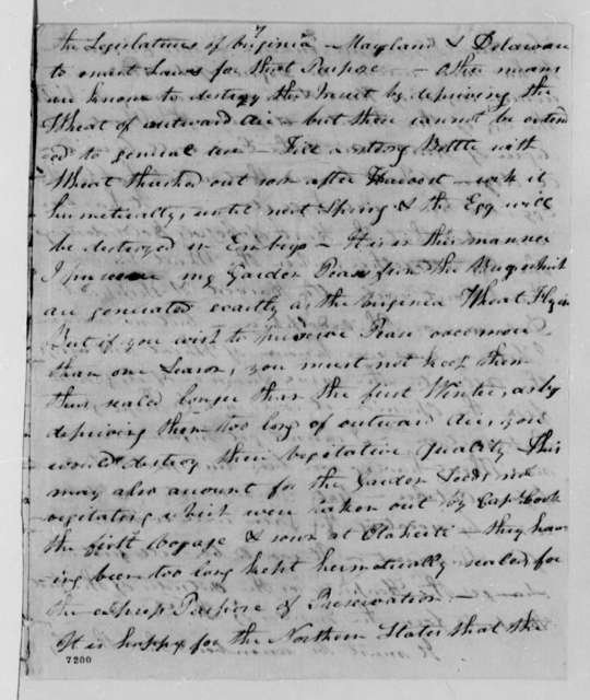 George Morgan to John Temple, August 26, 1788, American Wheat Not Permitted in Great Britain Due to Hessian Fly