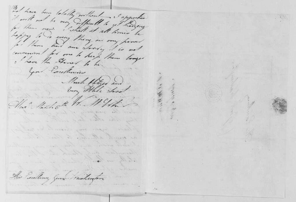 George Washington Papers, Series 4, General Correspondence: William McWhir to George Washington, March 8, 1788