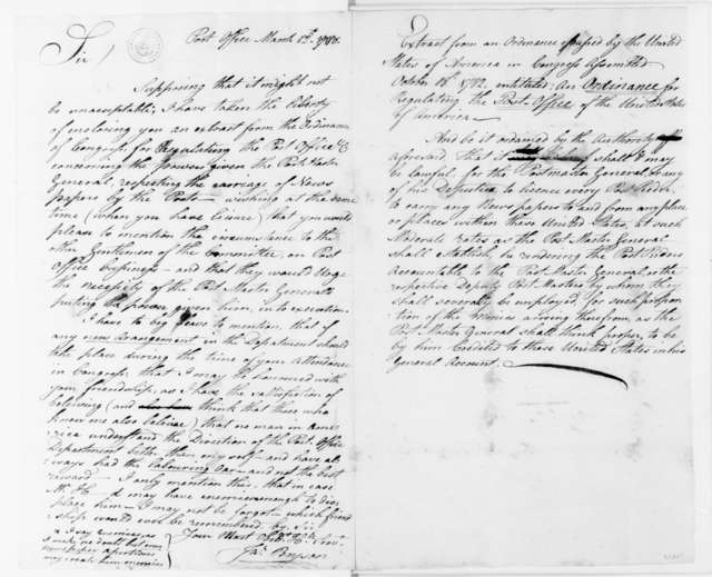 James Bryson to James Madison, March 12, 1788.