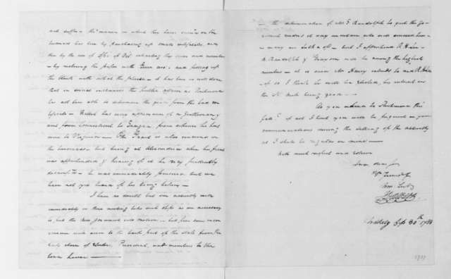 John Dawson to James Madison, September 30, 1788.