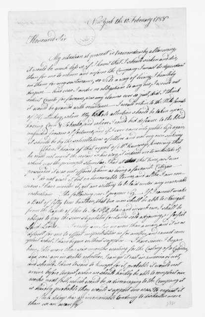 John Fitch to James Madison, February 10, 1788.