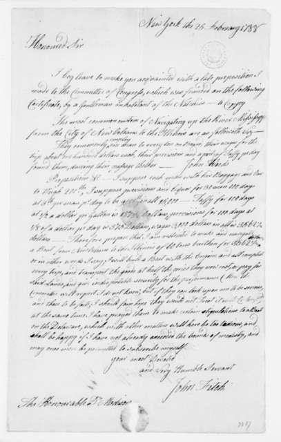John Fitch to James Madison, February 25, 1788.
