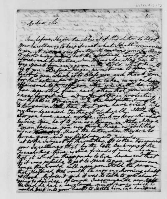 Lucy Ludwell Paradise to Thomas Jefferson, August 21, 1788