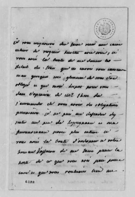 Madame Noailles de Tesse to Thomas Jefferson, May 22, 1788, in French