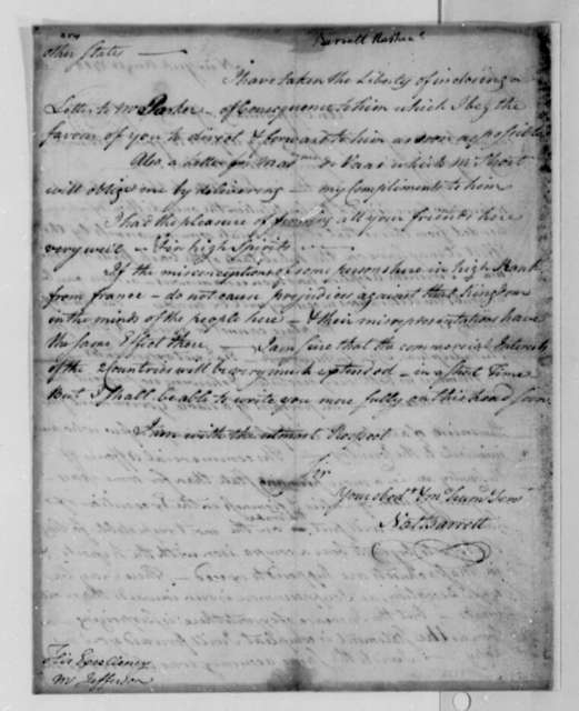 Nathaniel Barrett to Thomas Jefferson, August 18, 1788
