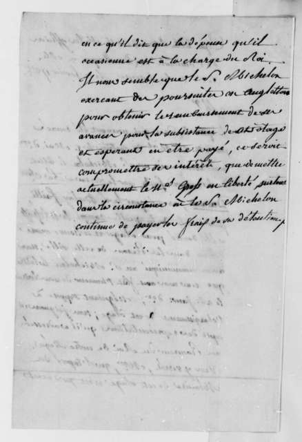 Officer of the Admiralty at Dunkirk to La Luzerne, February 11, 1788, Impressment and Imprisonment of American Seaman Alexander Gross, in French
