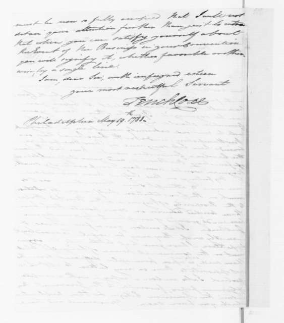 Tench Coxe to James Madison, May 19, 1788.