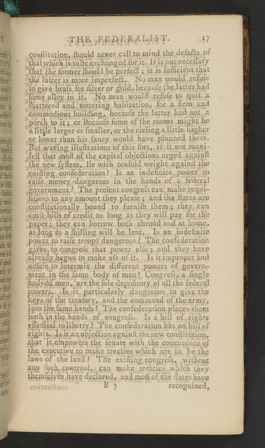 The Federalist: A Collection of essays, written in favour of the new Constitution, as agreed upon by the Federal convention, September 17, 1787, in two volumes.  Vol. 2.