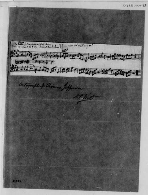 Thomas Jefferson, March 3, 1788, Church Chime Music-Description