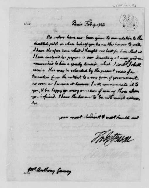 Thomas Jefferson to Anthony Garvey, February 9, 1788