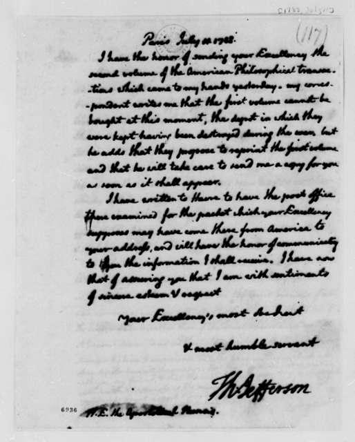 Thomas Jefferson to Antonio Dugnani, July 11, 1788