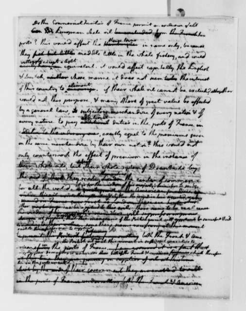 Thomas Jefferson to Armand-Marc, Comte de Montmorin-Saint-Herem, July 1788, Draft of Letter on Whale Oil Trade