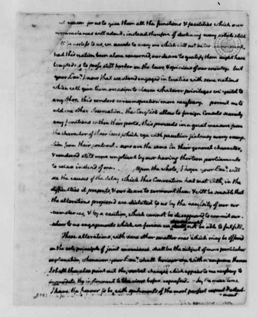 Thomas Jefferson to Armand-Marc, Comte de Montmorin-Saint-Herem, June 20, 1788, Alterations to Consular Convention; with Two Copies