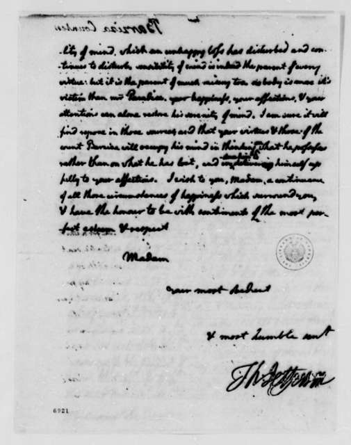 Thomas Jefferson to Count Barziza, July 8, 1788
