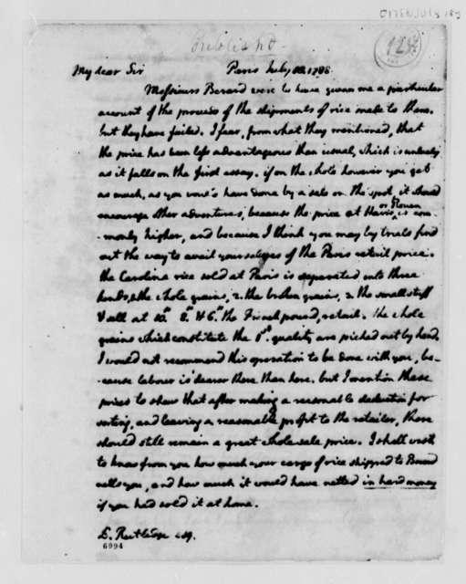 Thomas Jefferson to Edward Rutledge, July 18, 1788