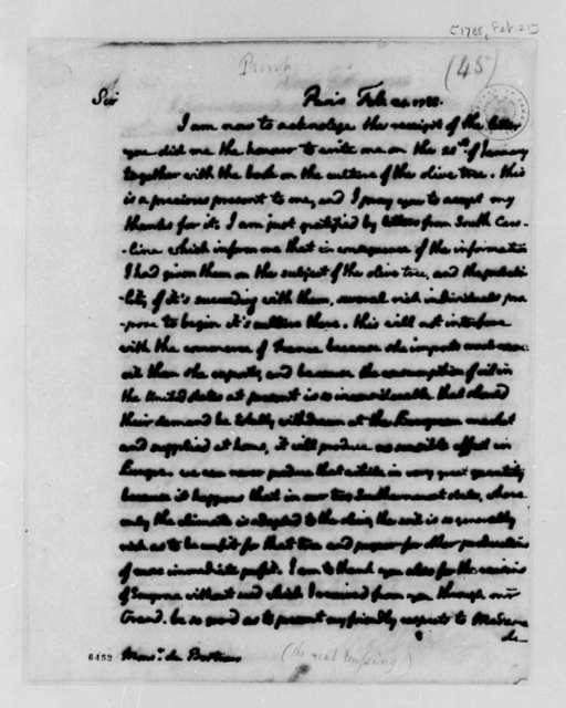 Thomas Jefferson to J. Louis Bertroux, February 21, 1788