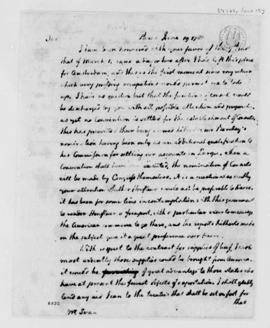 Thomas Jefferson to James Swan, June 19, 1788