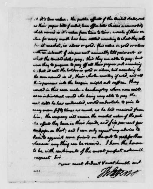 Thomas Jefferson to Jean Armand Tronchin, February 26, 1788