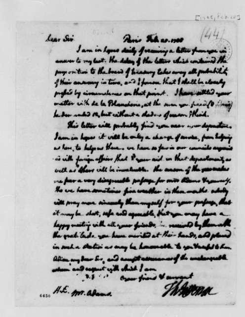 Thomas Jefferson to John Adams, February 20, 1788