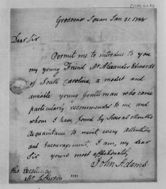 Thomas Jefferson to John Adams, January 31, 1788