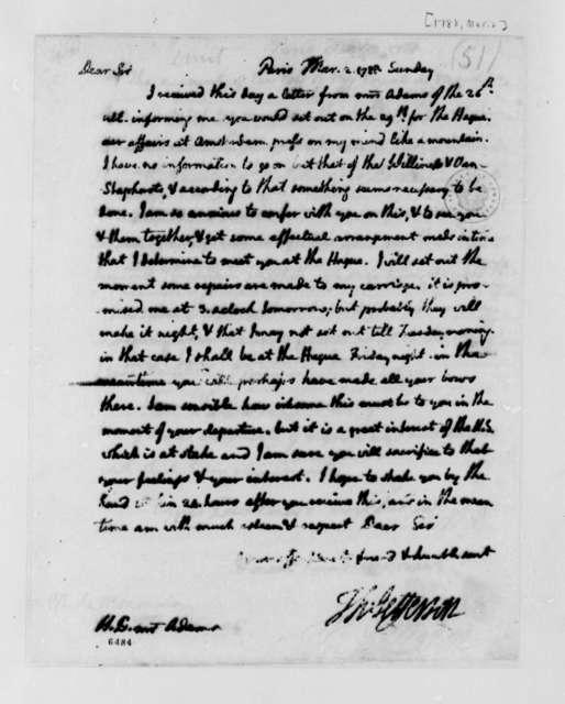 Thomas Jefferson to John Adams, March 2, 1788