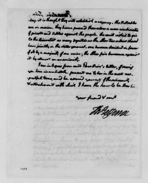 Thomas Jefferson to John Paradise, November 22, 1788
