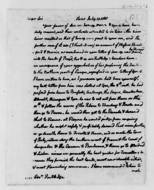 Thomas Jefferson to John Rutledge, July 17, 1788