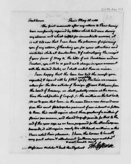 Thomas Jefferson to Nicholas and Jacob van Staphorst, May 16, 1788