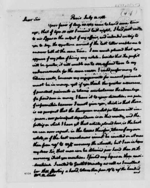 Thomas Jefferson to Nicholas Lewis, July 11, 1788