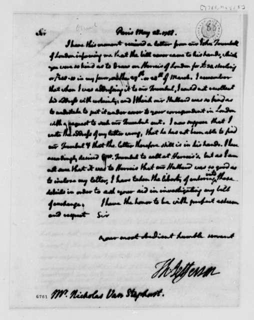 Thomas Jefferson to Nicholas van Staphorst, May 28, 1788