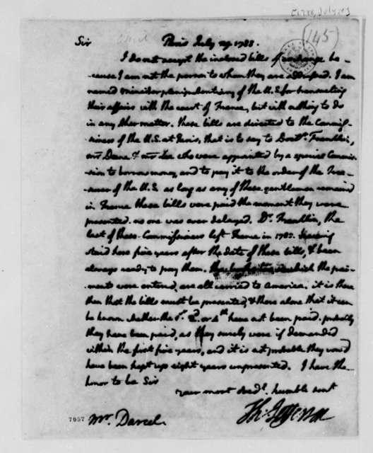 Thomas Jefferson to Nicolas Darcel, July 29, 1788