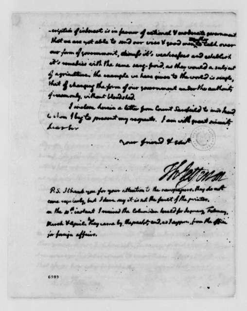 Thomas Jefferson to Ralph Izard, July 17, 1788