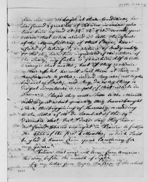 Thomas Jefferson to Stephen Cathalan Jr., June 11, 1788