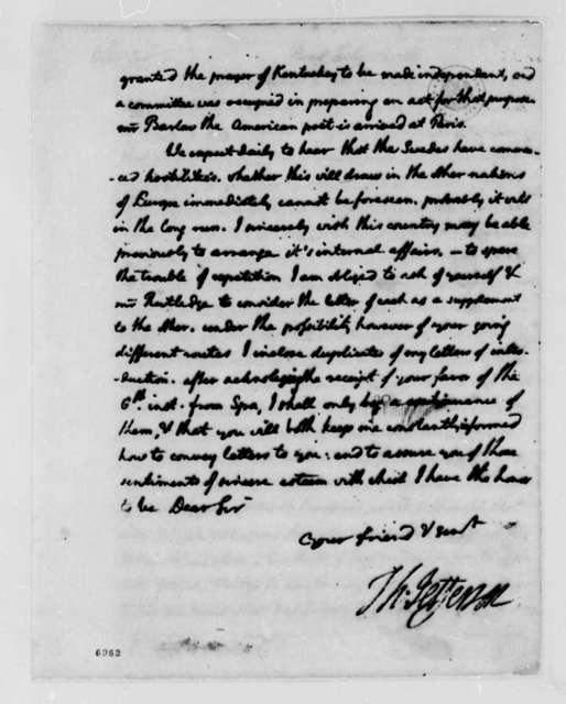 Thomas Jefferson to Thomas Lee Shippen, July 13, 1788