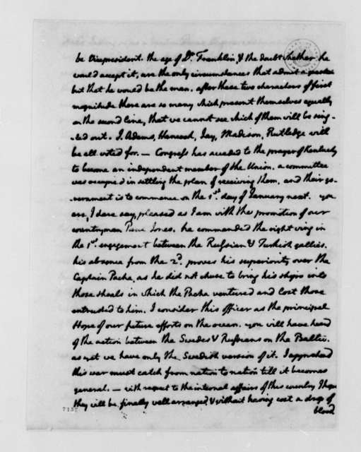 Thomas Jefferson to William Carmichael, August 12, 1788