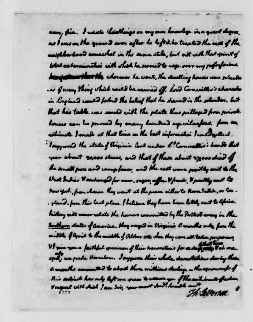 Thomas Jefferson to William Gordon, July 16, 1788