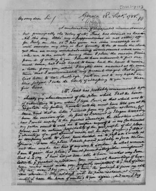 Thomas Lee Shippen to Thomas Jefferson, September 22, 1788