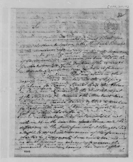 Wilhelm Macarty to Thomas Jefferson, January 14, 1788