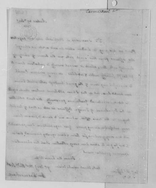 William Carmichael to Thomas Jefferson, January 29, 1788