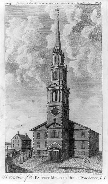 A s.w. view of the Baptist Meeting House, Providence, R.I. / S. Hill sculp.