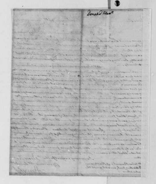 Alexander Donald to Thomas Jefferson, January 16, 1789