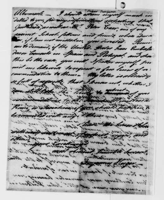 Benjamin Huger to Thomas Jefferson, June 16, 1789
