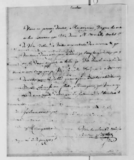 Cavelier Sons to Thomas Jefferson, June 20, 1789
