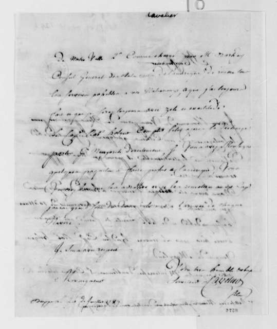 Cavelier to Thomas Jefferson, July 24, 1789