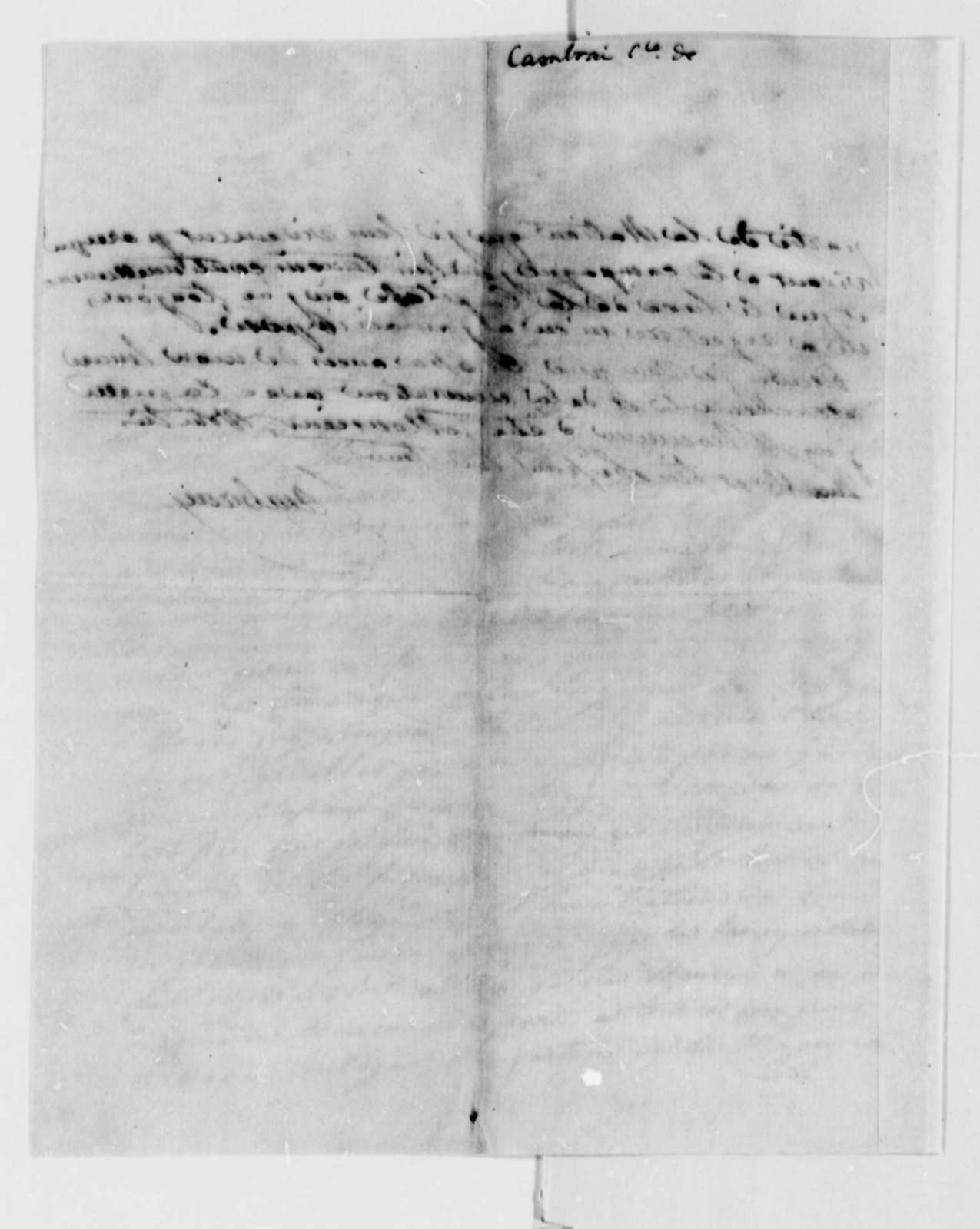 Count de Cambray to Thomas Jefferson, August 17, 1789