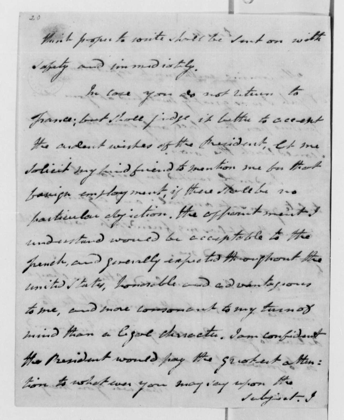Cyrus Griffin to Thomas Jefferson, December 11, 1789